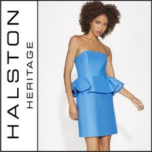 NWT ( Halston Heritage ) Peplum Cocktail Dress